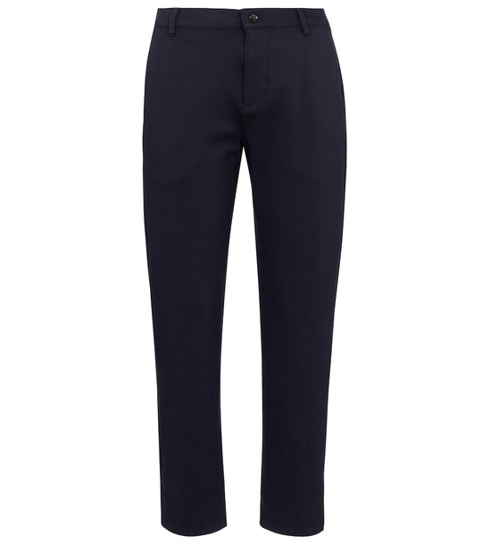 7 For All Mankind Travel stretch-knit straight pants in blue