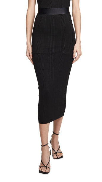 The Range Utility Midi Skirt in black