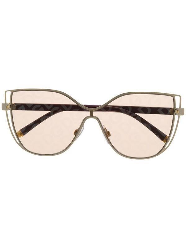 Dolce & Gabbana Eyewear DG logo sunglasses in brown