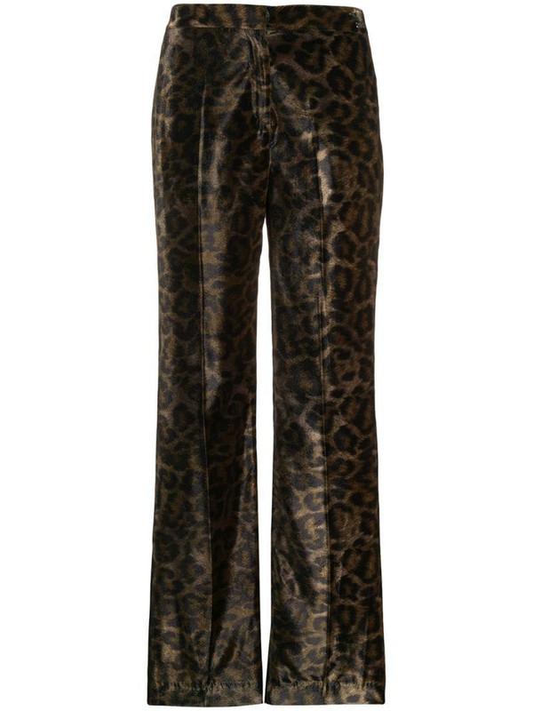 John Richmond Tameside leopard print trousers in green