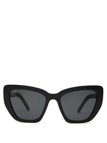 Prada Eyewear - Cat Eye Acetate Sunglasses - Womens - Black