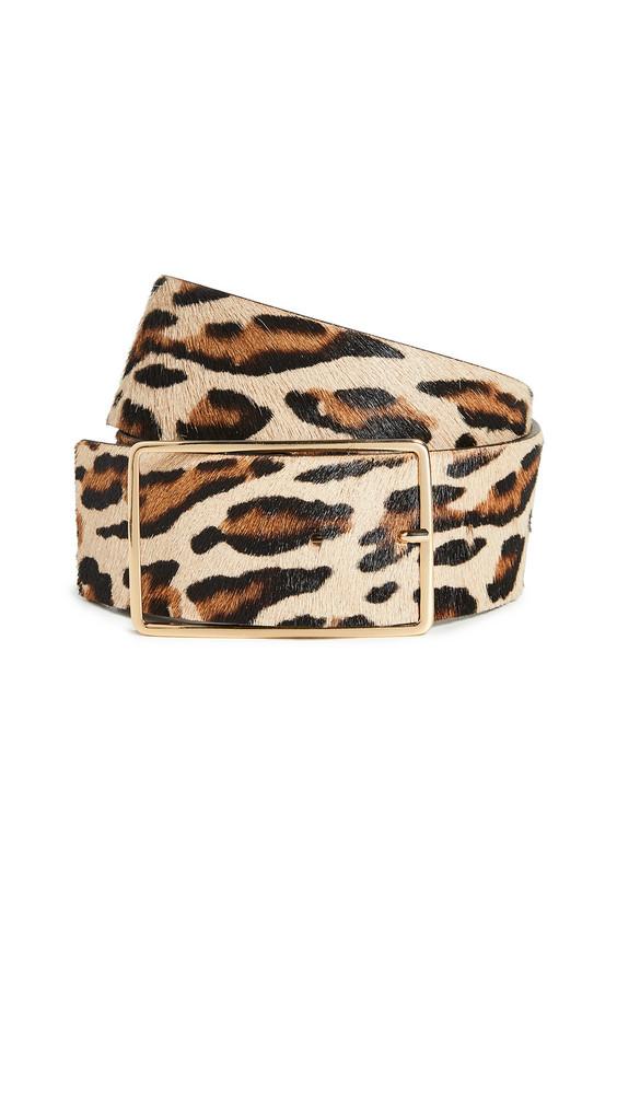 B-Low The Belt Milla Waist Calf-Hair Belt in gold / leopard