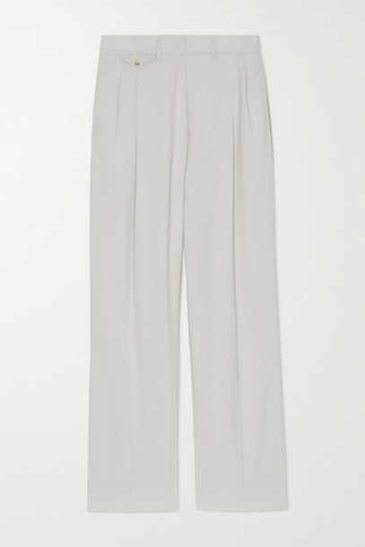 Frankie Shop - Pernille Woven Straight-leg Pants - Light gray