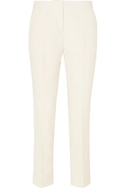 By Malene Birger - Santsi Cotton-blend Cady Tapered Pants - Cream