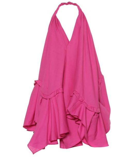 Jacquemus La Robe Rosa wool minidress in pink
