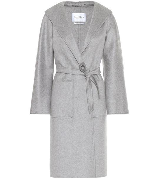 Max Mara Lilia double-face cashmere coat in grey