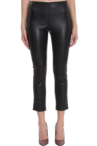 Theory Pants In Black Leather