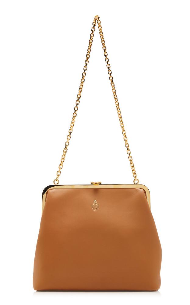 Mark Cross Susanna Leather Shoulder Bag in brown