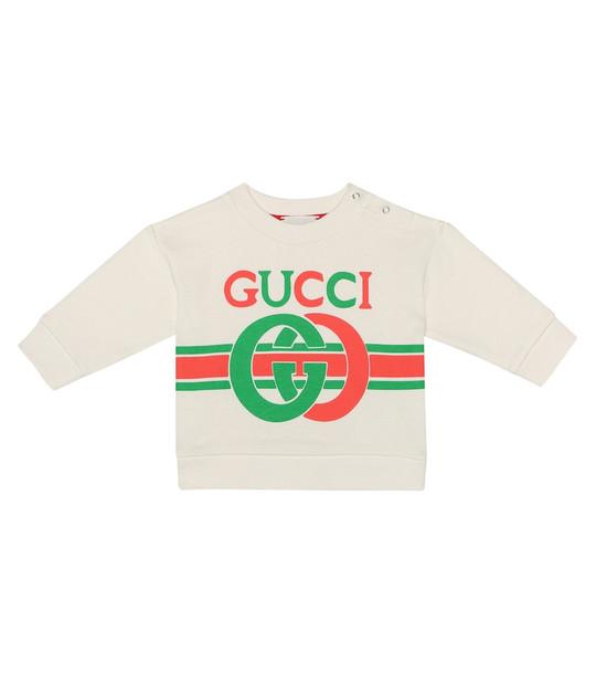 Gucci Kids Baby logo cotton sweatshirt in white