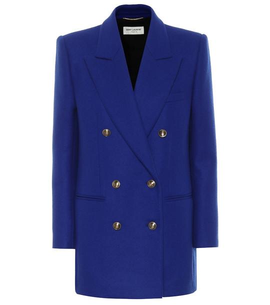 Saint Laurent Wool and cashmere blazer in blue