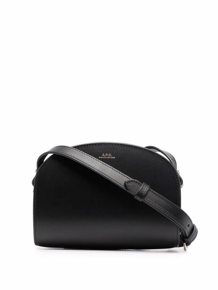 A.P.C. A.P.C. half-moon leather bag - Black
