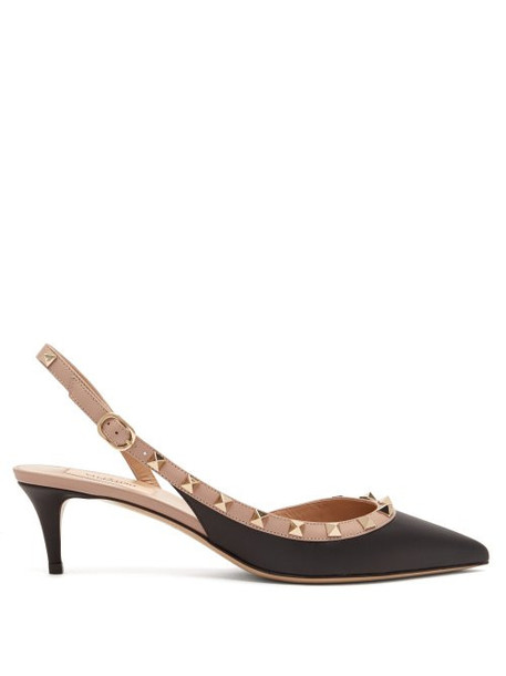 pumps leather nude black shoes