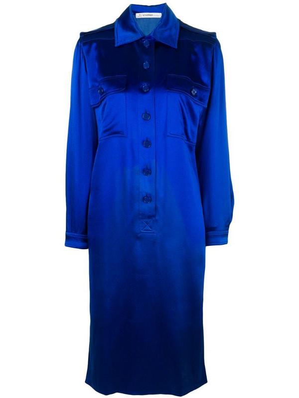 Jean Louis Scherrer Pre-Owned mid-length shirt dress in blue