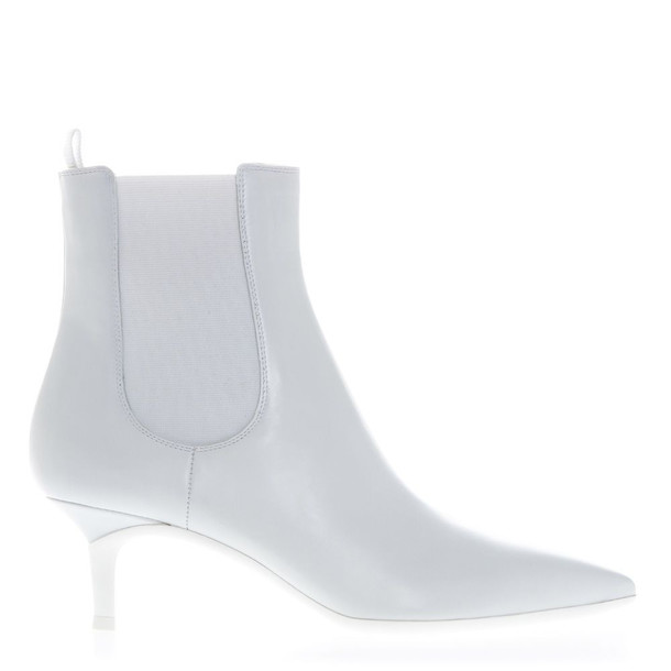 Gianvito Rossi Ankle Boots In White Leather