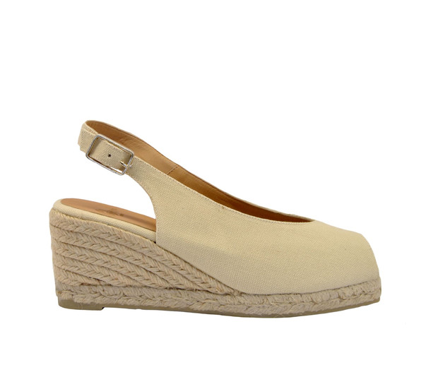 Castañer Dosalia Wedge Sandals in ivory