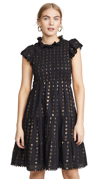Sea Laura Smocked Dress in black