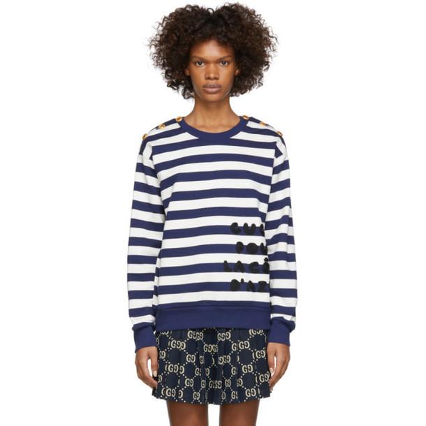 Gucci Navy & White 'Gucci Pour La Côte D'Azur' Sweatshirt