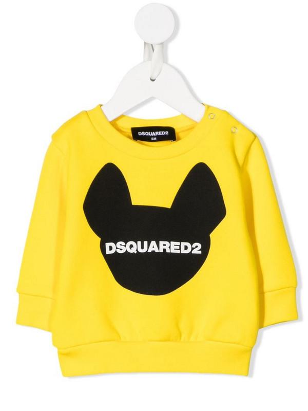 Dsquared2 Kids dog logo print sweatshirt