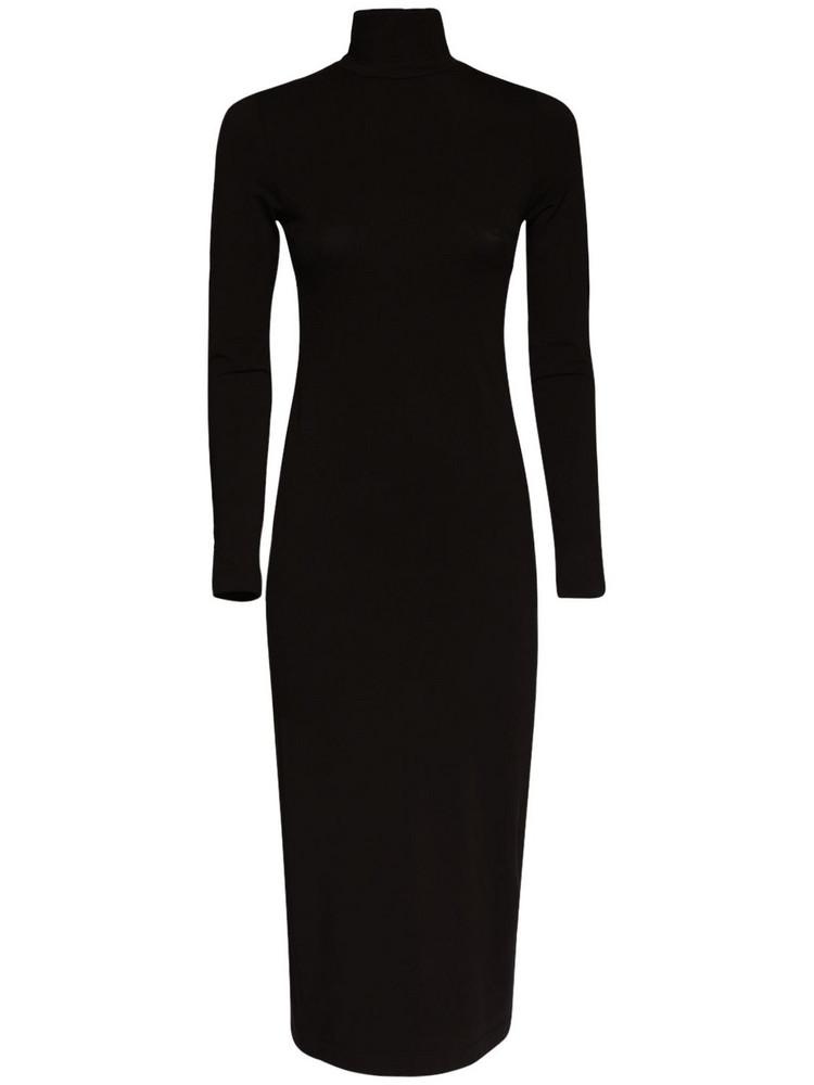 BALENCIAGA Bb Stretch Cotton Jersey Dress in black