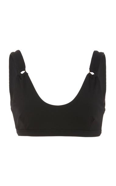 Palm Lido Bikini Top Size: 4 in black