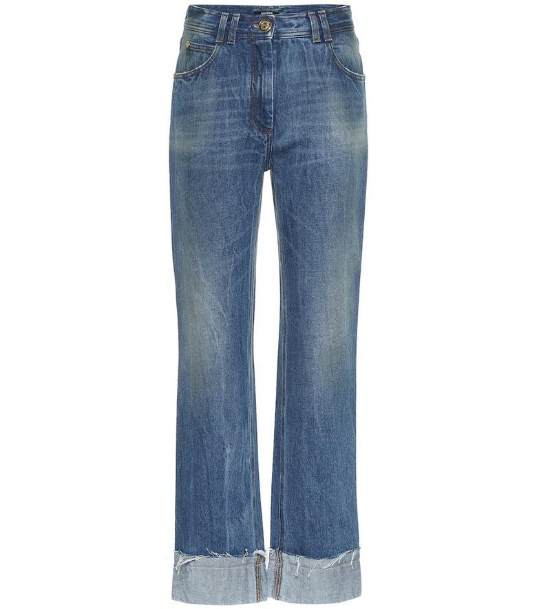 Balmain High-rise straight jeans in blue
