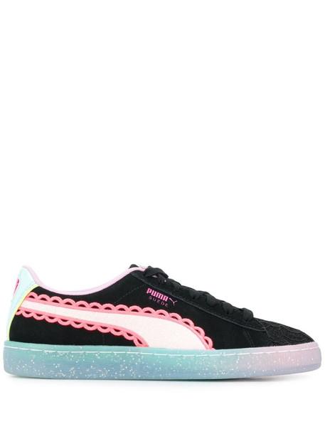 Puma X Sophia Webster colour block sneakers in black