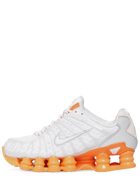 NIKE Shox Total Sneakers in orange / white