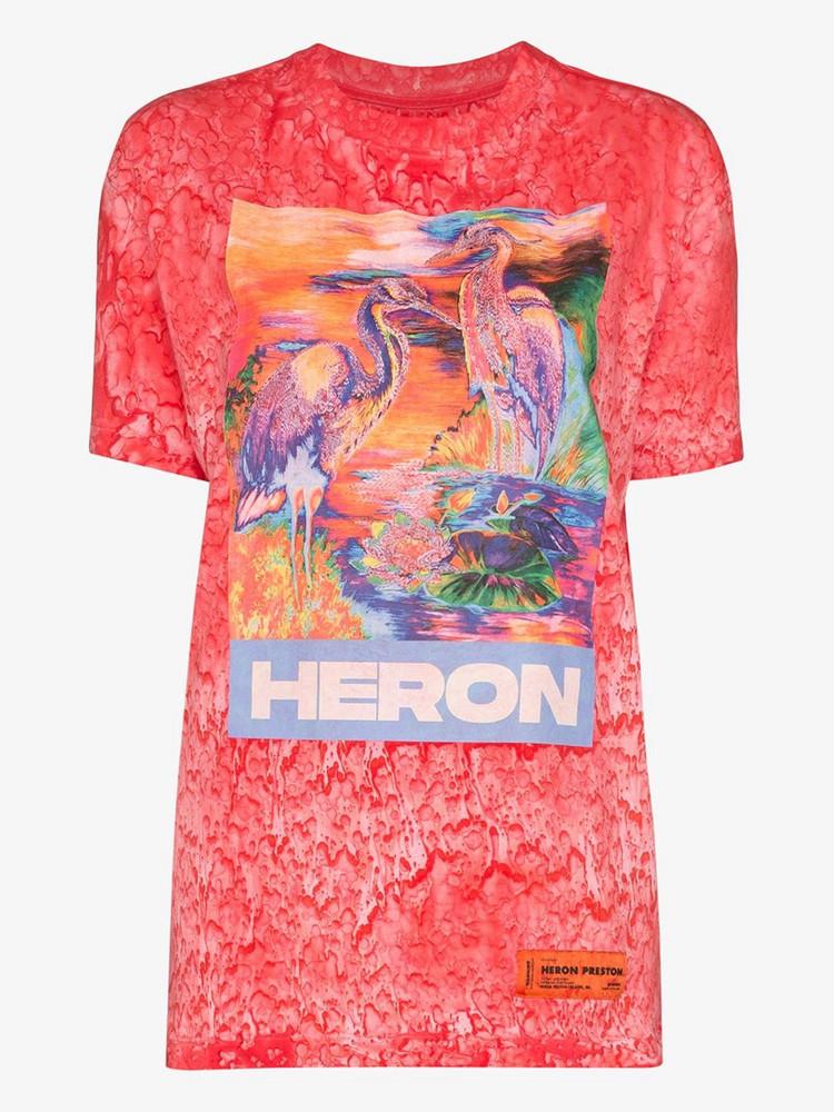 Heron Preston HERON BIRDS TEE W FRNT PRNT in pink