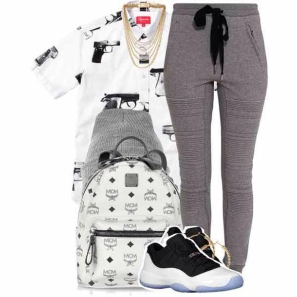 shirt pants t-shirt bag shoes hat sweatpants joggers grey joggers joggers pants comfy clothes