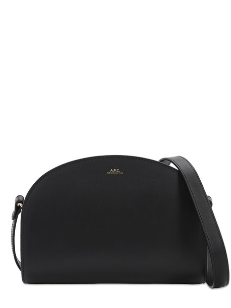 A.P.C. Demi Lune Smooth Leather Bag in black