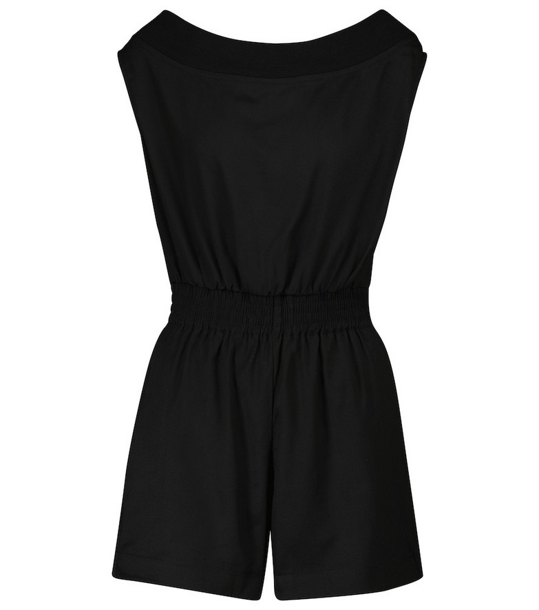 RtA Ginnie off-shoulder playsuit in black