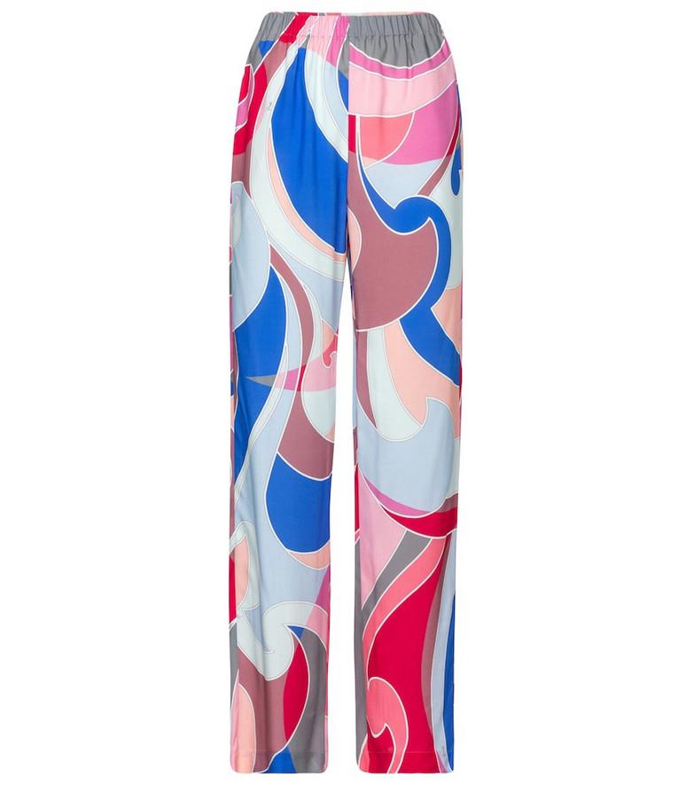 Emilio Pucci Beach Printed wide-leg pants