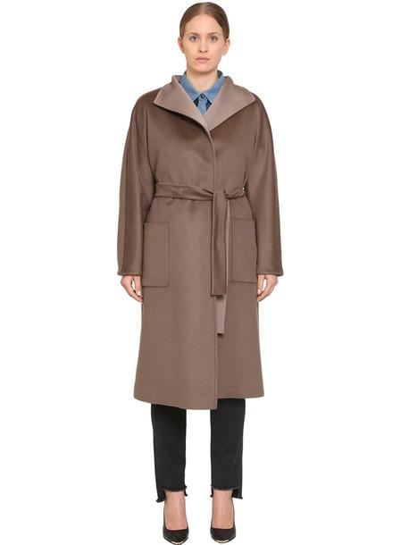 MARINA RINALDI Trucco Wool Coat in taupe