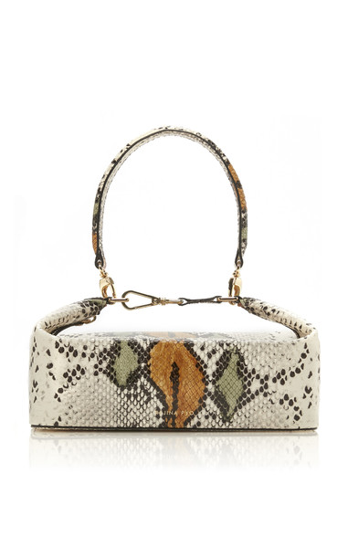 Rejina Pyo Olivia Snake-Effect Leather Top-Handle Bag in neutral