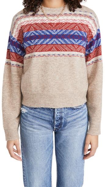 Rag & Bone Finlay Crew Sweater in camel