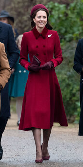 shoes,burgundy,pumps,coat,kate middleton