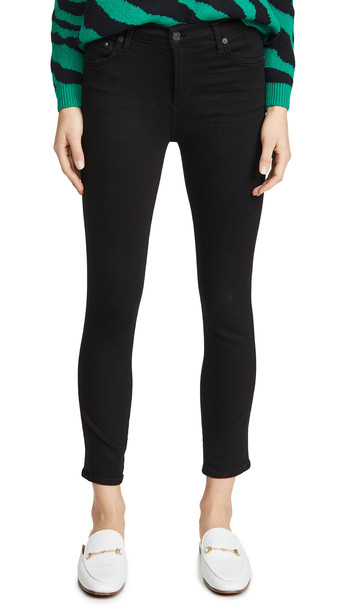 Citizens of Humanity Rocket Crop Skinny Jeans in black
