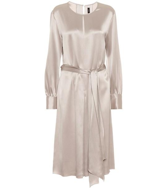 Joseph Silk-satin midi dress in silver