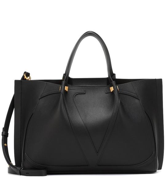 Valentino Garavani VLOGO Escape Medium leather shopper in black