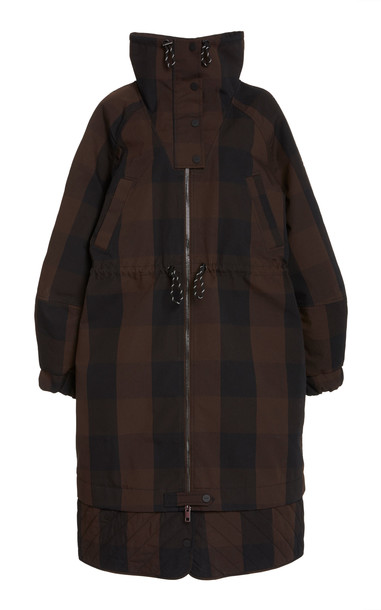 Ganni Double Cotton Jackets in brown