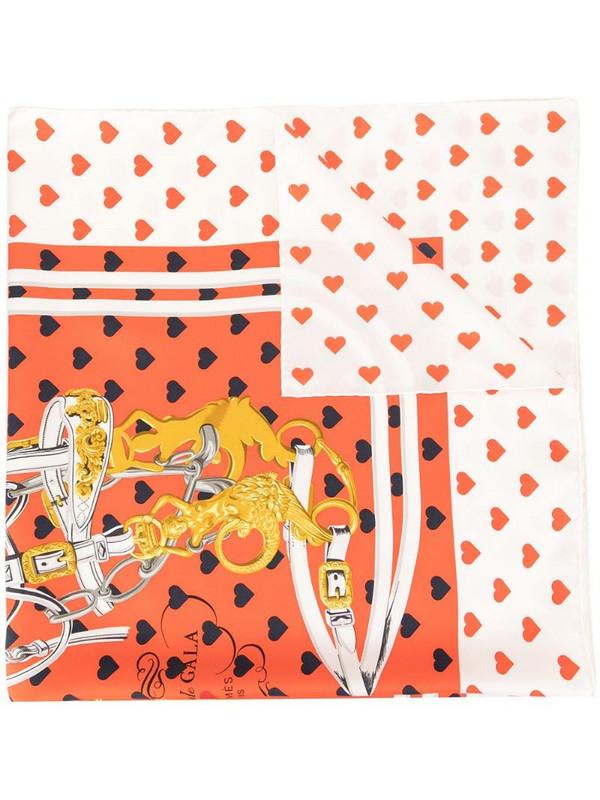 Hermès pre-owned printed scarf in red