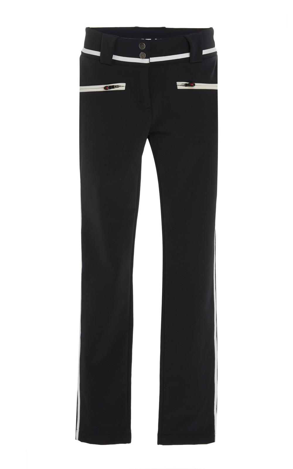 Perfect Moment Aurora Stretch-Jersey Skinny Ski Pants in black