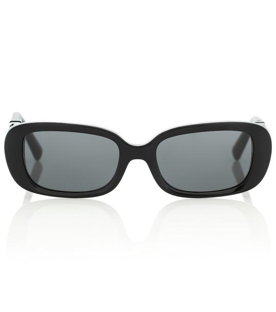 Valentino VLOGO oval sunglasses in black