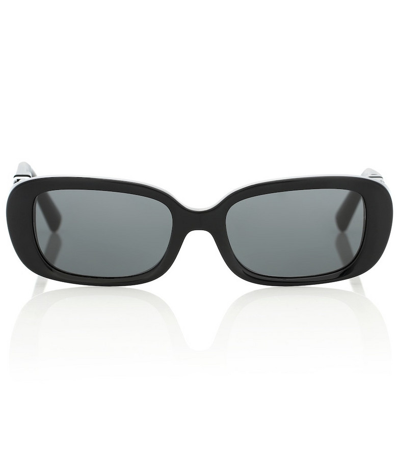 Valentino VLOGO oval sunglasses in black