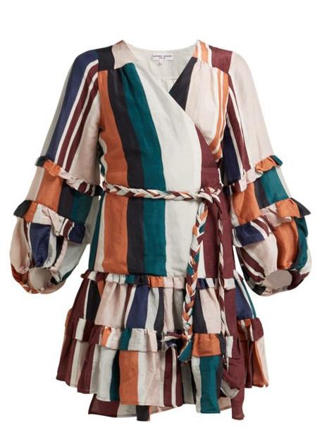 Apiece Apart - Zarza Striped Linen Blend Wrap Dress - Womens - Multi