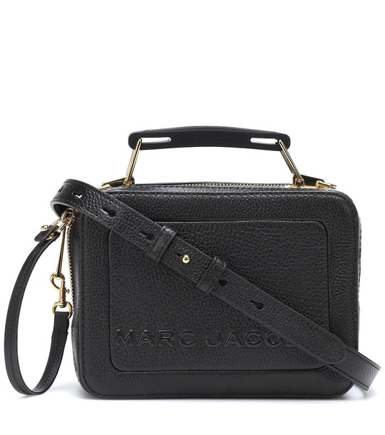 Marc Jacobs The Box Small leather shoulder bag in black