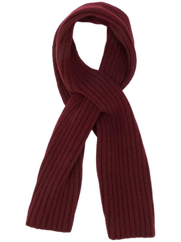Pringle of Scotland slit wrap scarf in red