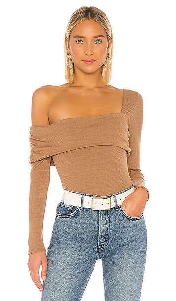 Privacy Please Florence Bodysuit in Tan