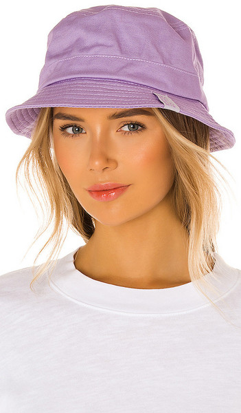 Frankies Bikinis Jax Bucket Hat in Purple in lilac