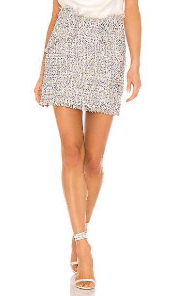 NBD Chriselle Mini Skirt in Blue